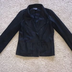 VINCE black soft leather jacket,sz.S!!GOrGOUeS